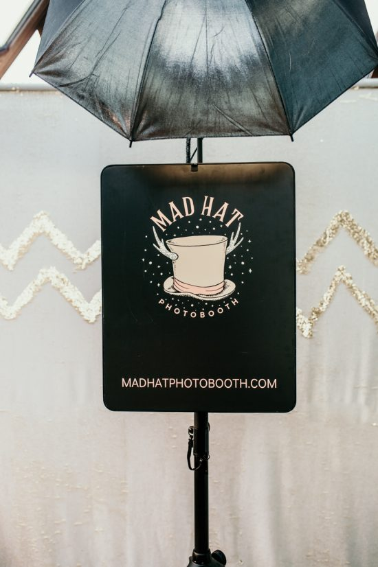 mad hat photo booth wedding and events photo booth hire with white and gold sequins backdrop