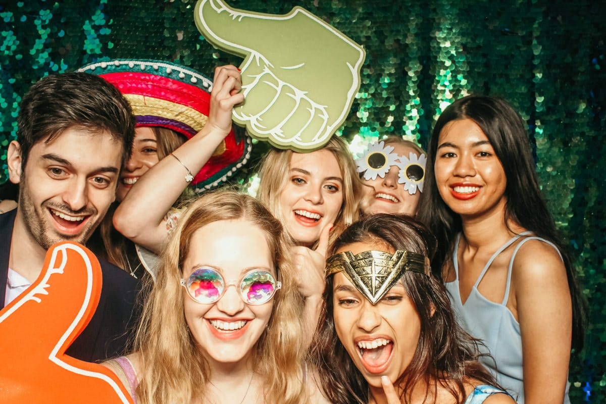super fun birthday party entertainment idea with a photo booth