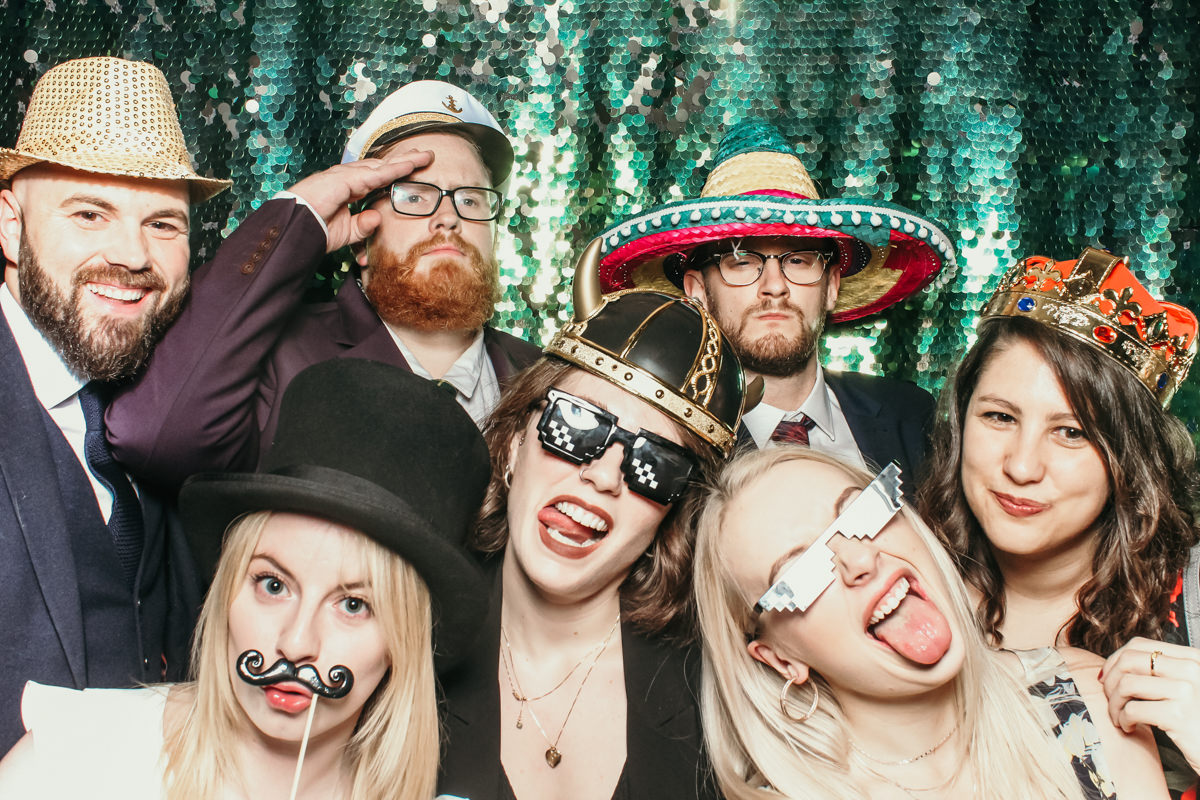 elmore court wedding photo booth hire for a stroud events with mad hat photo booth