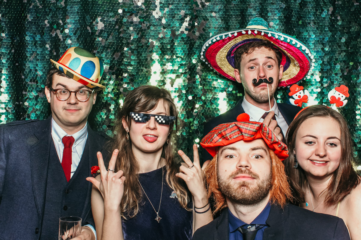 elmore court wedding in Gloucestershire with mad hat photo booth for weddings and events
