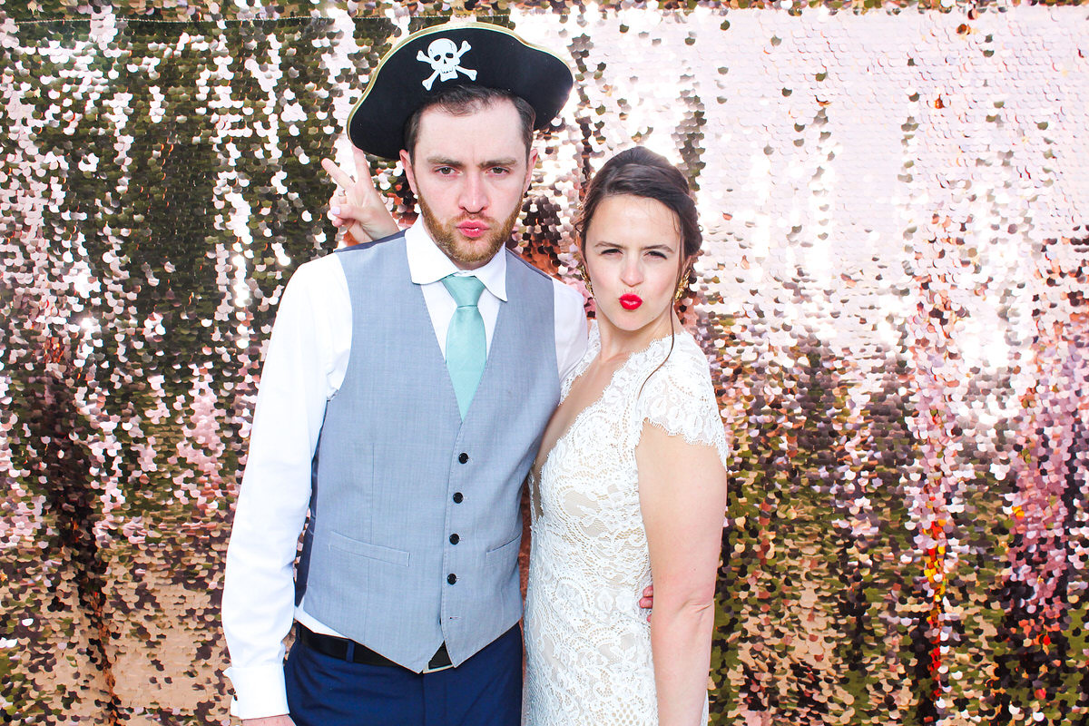 bride and groom wedding photos for mad hat photo booth