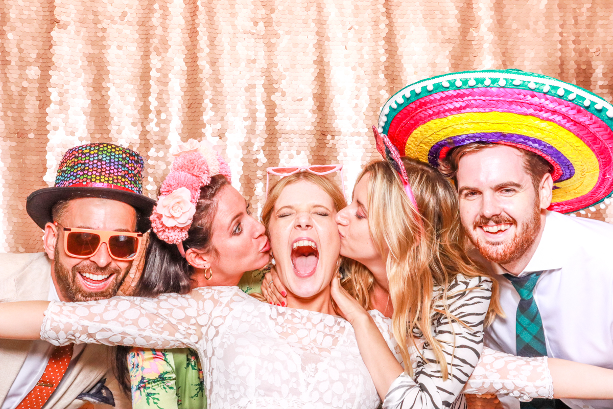 wedding entertainment at Lapstone barn with mad hat photo booth